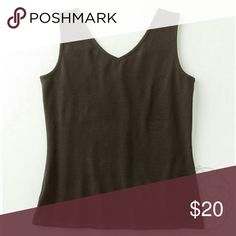 """Coldwater Creek Brown Reversible Tank Top Lovely Chocolate Versatile Tank  A reversible tank with scoop neck on one side & V-neck on the other. Who doesn't like options!  ▪ CWC Size Small = Size 6 - 8  ▪ Bust: 34"""" inches (unstretched) ⚠ All measurements are approximate  💥 Brand New with Tag. Never worn   FINAL PRICE - NO OFFERS   ✋ All Sales Final   🚫 Trades or Holds Coldwater Creek Tops Tank Tops"""