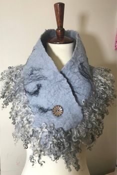 Excited to share the latest addition to my shop: Gotland Sheep Curly Locks Merino Wool Neck Warmer Collar Cowl Scarf Unique Gift for Her Cowl Scarf, Felted Scarf, Etsy Coupon, Scarf Tutorial, Unique Gifts For Her, Felt Diy, Wet Felting, Neck Warmer, Fur Collars