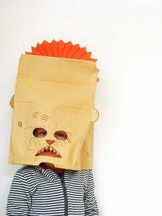 paper bag masks #kids #craft #diy