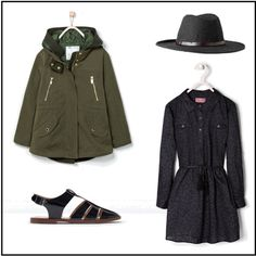 Stylish Girls - dress and parka by luisafisher on Polyvore featuring MANGO and Zara