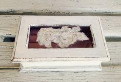 JEWELRY BOX White Jewelry Organizer Vintage by SouthamptonVintage