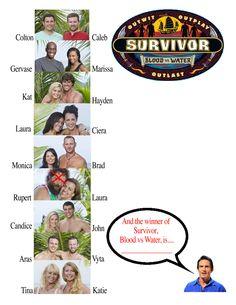Survivor Blood vs Water Ballot