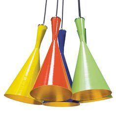 | pendulum trumpet light in primary colours from wohnzimmer.se
