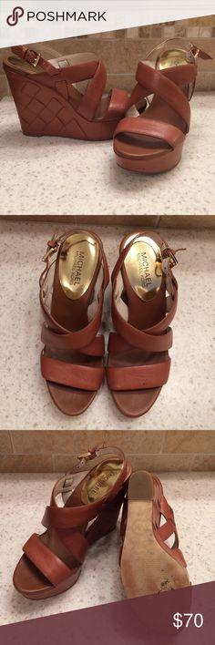 Michael Kors tan wedges Size 7 like new Michael Kors wedges. Michael Kors Shoes Wedges