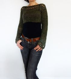 Knitting Pattern Woodland Cropped Top/ Boho di CamexiaDesigns