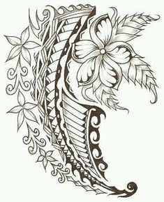 Although Polynesian tattoos come in all different styles, most of them include a tribal design along with a symbol of nature, such as a flower, sea turtle Maori Tattoos, Polynesian Tattoos Women, Polynesian Art, Polynesian Tattoo Designs, Filipino Tattoos, Marquesan Tattoos, Samoan Tattoo, Sleeve Tattoos, Tatoos