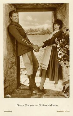 Gary Cooper and Colleen Moore in Lilac Time Colleen made the fairy castle at Museum of Science and Industry Chicago Hollywood Icons, Golden Age Of Hollywood, Vintage Hollywood, Hollywood Stars, Classic Hollywood, Gary Cooper, Patricia Arquette, Cary Grant, Silent Film Stars