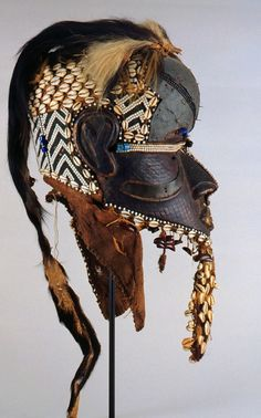 "Africa | ""bwoom"" mask from the Kuba people of DR Congo 