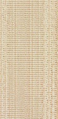 "Beige on White ""Stria"" carpet border"