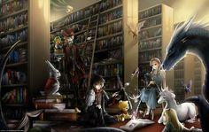 Children's Classic Anime Library Scenery Wallpapers- On Anime Kida - http://animekida.com/members/join