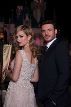 Lily James and Richard Madden at Disneyland #CinderellaPremiere