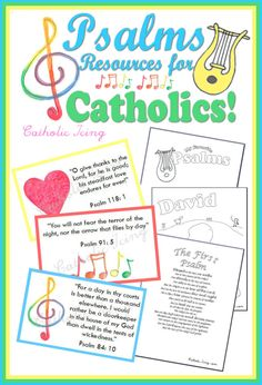 Free printable notebooking pages for teaching your kids about King David and the book of Psalms. Lots of great links here!