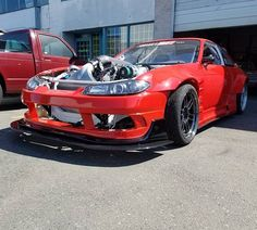 From: frankensteinspeedcustom - Out in the sun! This car looks menacing! Can\'t wait to see it with its new livery and fresh set of Fiske wheels! It now makes a healthy amount of horsepower and will. Be ready for FD Atlanta! #frankensteinspeedandcustom #frabricationbyfranke#fabricationlife #brodygoblemotorsports #mastmotorsports #vortechsuperchargers #rhs427 #finickyautobody #voodoo13 #linkecu #fortuneauto #originbodykit #achilliestires #radiumengineering #injectordynamics #mcleodracingclutch #aviaiddrysump #asdmotorsports #wilwoodbrakes #motecdisplay #ignitee98 #igniteracingfuel #vibrantperformance #brownbrosford Brody Goble @goforarip Saia de Plumas @claybeier @r7uhunter @westcoastwireworks so many to list but it\'s been a long road and can\'t wait to see it perform! -  More Info:https://www.instagram.com/p/BiOKpbngaov/