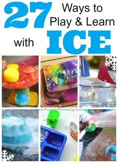 27 ways to play and learn with ice. Great summer activities for kids!