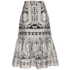 Erdem Abbie Brocade Skirt ($780) ❤ liked on Polyvore featuring skirts, black, brocade skirt, erdem skirt and erdem