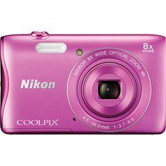 Nikon COOLPIX S3700 20.1MP Compact Digital Camera (Pink) | Focus Camera
