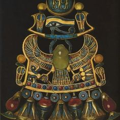 Pectoral made out of gold inlaid with precious and semi precious stones found inside the tomb of king tut in 1922. Dates back to 1350 BC The National museum of Egypt. #ereen_yousef_tour_guide_tour_operator_egypt