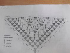 chart for a triangle shawl