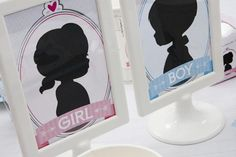 Gender Reveal Party Table Decorations #genderreveal