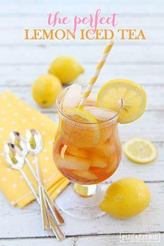 The PERFECT Lemon Iced Tea! Fabulous for summer!