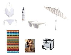 """""""Day At The Beach"""" by karaboo567 ❤ liked on Polyvore featuring Missoni Home, Million Dollar Tan and Pier 1 Imports"""