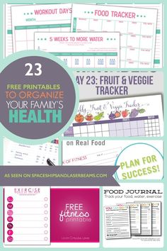 Are you taking care of the whole family? Make it a little easier with these free printables to organize your family's health.