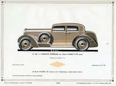 Talbot H 78 Conduite Interieure, c. 1931