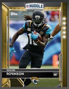 dd4b71ff80 Denard Robinson Jacksonville Jaguars Gold Parallel Card 2016 Topps HUDDLE
