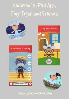 #ece #iOS Children's iPad App, Tiny Tiger and Friends