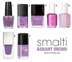 Smalti Radiant Orchid 2014 - Le nuance per la tua Nail Art