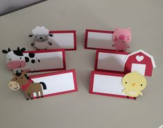 12 Farm Animal Place Cards / Farm Animal Food Table Card, Farm Party Decor / Farm Birthday Party, Fa