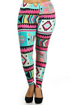 Retro Design Plus Size Leggings