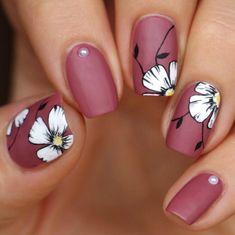 Floral play an important role in nail art design. Many people like the floral nail art design. In this article, we have collected 65 stylish floral nail art designs for yo Funky Nail Art, Floral Nail Art, Pretty Nail Art, Cute Nail Art, Cute Acrylic Nails, Acrylic Nail Designs, Cute Nails, Nail Art Designs, My Nails