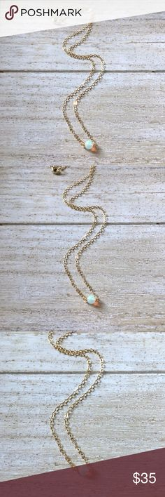 """✨Minimalist Genuine Opal Choker Necklace✨ ✨Minimalist Genuine Opal Choker Necklace✨  Simple, Dainty and Delicate Gold Filled  Genuine Opal Necklace  Great for layering or wearing alone. Great play of color flash.   Genuine Welo Ethiopian Fire Opal  Gold Filled   Necklace apprx 15"""" Lead & Nickel Free *Length can be customized*  ✨Simple Basic Classic Trending Style✨ Jewelry Necklaces"""