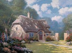 thomas kinkade cottages | Thomas Kinkade Cottage Paintings