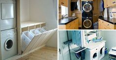Laundry Facilities: 11 Great Ideas to Sting Mudroom Laundry Room, Laundry Room Organization, Laundry Room Design, Interior Design Living Room, Living Room Designs, Secret Rooms, Storage Bins, Home Renovation, House Design