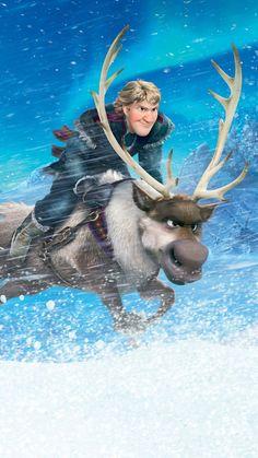2014 Halloween Sven Kristoff in the SnowStorm iPhone 6 Plus Wallpaper - 2014 Disney Frozen, Snowflake