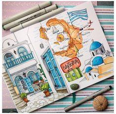Voyage Sketchbook, Travel Sketchbook, Art Sketchbook, Marker Kunst, Marker Art, Marker Drawings, Anastasia, Fall Drawings, Sketch Journal