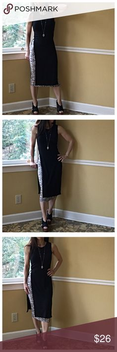 🆕 side slits dress Black side slits tunic dress PLEASE Use the Poshmark new option you can purchase and it will give you the option to pick the size you want ( all sizes are available) BUNDLE and save 10% ( no trades price is firm unless bundled) Dresses