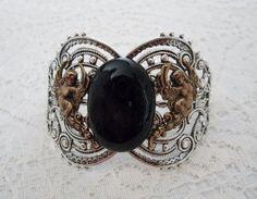 Black Agate Bracelet renaissance jewelry medieval jewelry