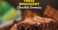 3-Ingredient Brownies are moist, chewy, chocolaty and oh so fudgy. They come together in just 5 minutes. And the taste is spectacular.