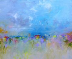Abstract Landscape 'One for the Road'  by SallyKellyPaintings, $175.00