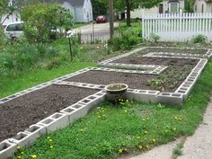Raised Beds Using Concrete Block | Happy Home: Build your own Concrete Block Raised Beds