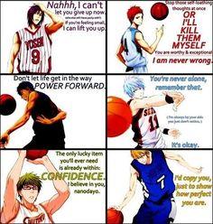 Kuroko no basket quote, love and friendship