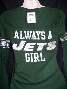 Nwt victoria s secret pink new york jets jersey shirt small   only one on 2d970cfc8