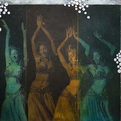 Samia Gamal - The Revival Of Rhythms exhibition by the artist Atef Ahmed / Nov, 2015  #gallerymisr #exhibition #art #mixedmedia #egypt #egyptian #artist #egyptiancontemporaryartist #egyptiancontemporaryart #egyptiandancers #atefahmed #samiagamal
