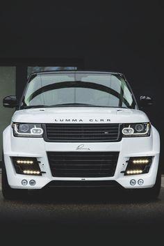 Custom white Range Rover. #cars