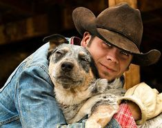 Cowboy's Best Friend, the Blue Heeler Mans Best Friend, Best Friends, Cowboy Horse, Cowboy Art, Jolie Photo, Australian Cattle Dog, Working Dogs, Doge, Dog Love