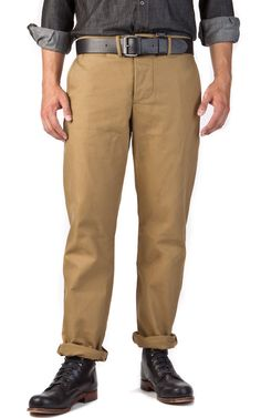 LEFT FIELD NYC 13oz. Japanese Calvary Twill Field Pant [Dark Khaki]  |  CULTIZM