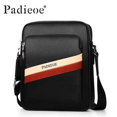 Bags · Padieoe Mens Handbags Real Cow Leather Men s Shoulder Bag Men s  Business Bag with Litchi Pattern Men 80733c08451b1